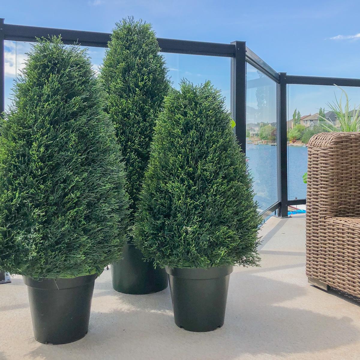 Faux Outdoor Cedar Trees