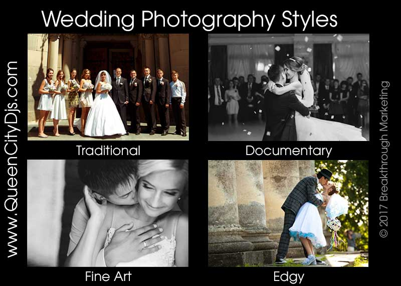 wedding photography styles
