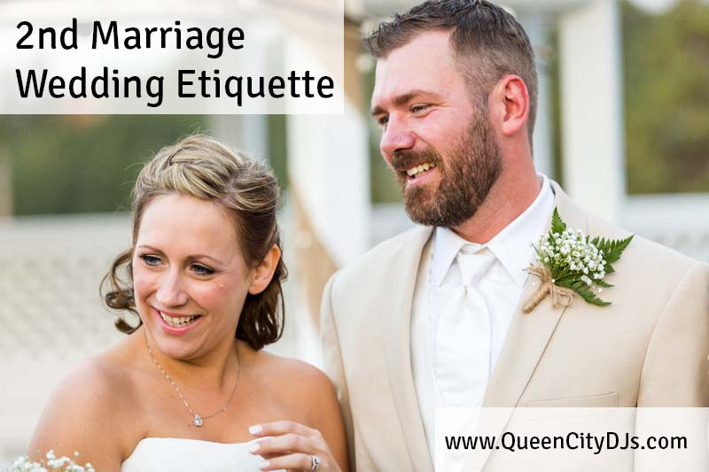 second marriage wedding etiquette