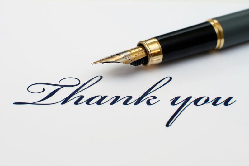thank-you note etiquette