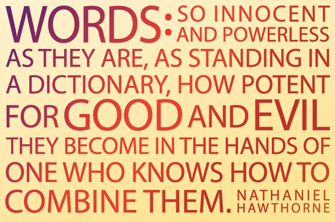 A little exercise in the power of Words.