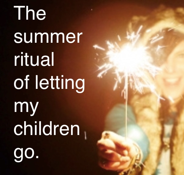 The ritual of letting my children go…