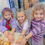 Girls enjoyed a bead bracelet class at High Tide Beads on Hilton Head.