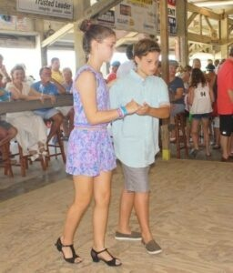 The Jr. Shag Club teaches students the Carolina State Dance.