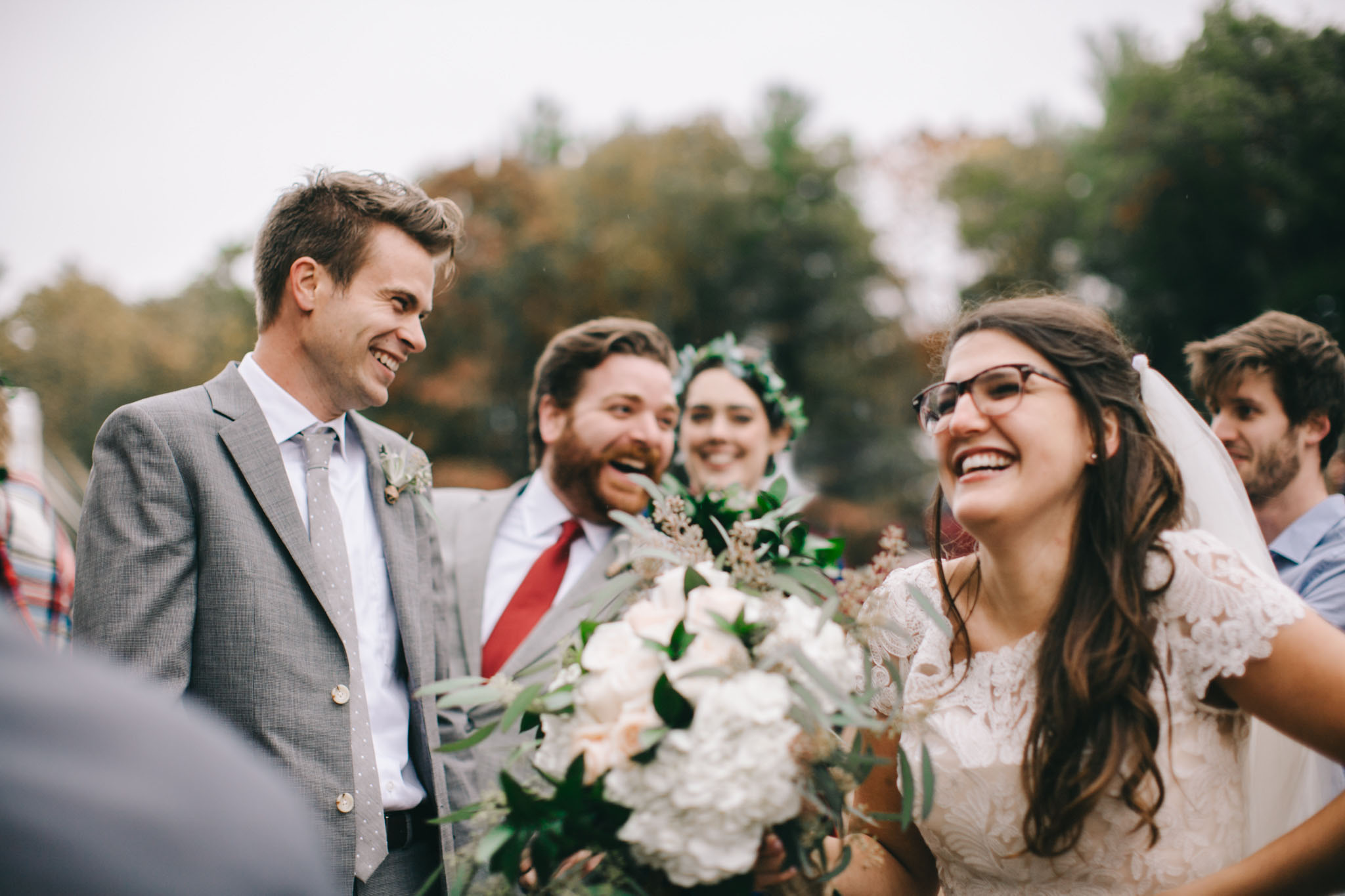Bridal Party Laughter