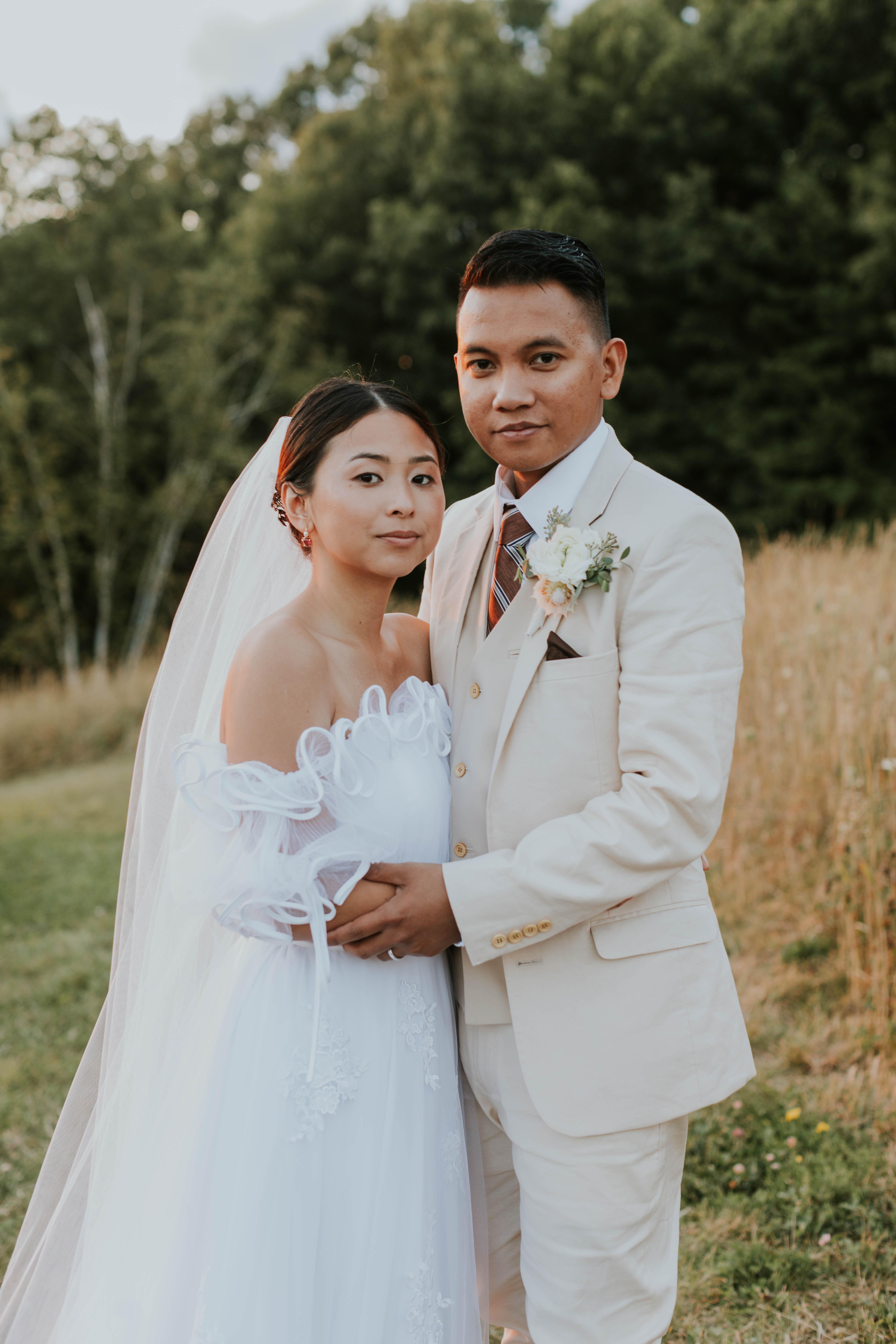 Wedding couple portraits