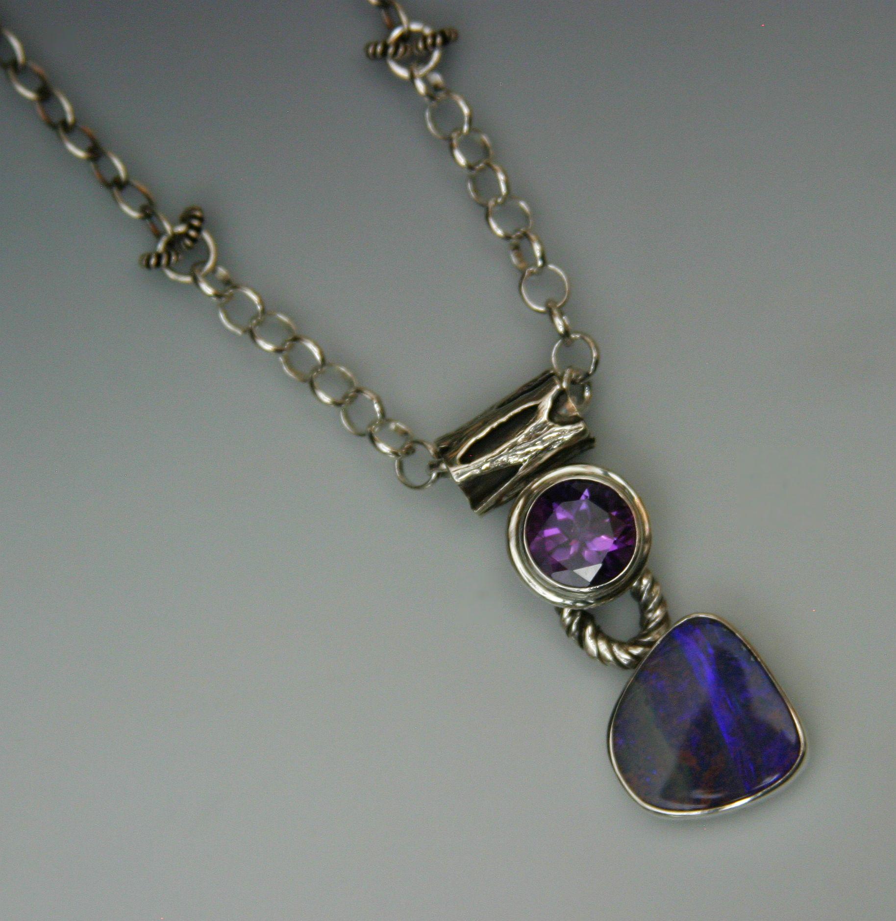 boulder opal amethyst