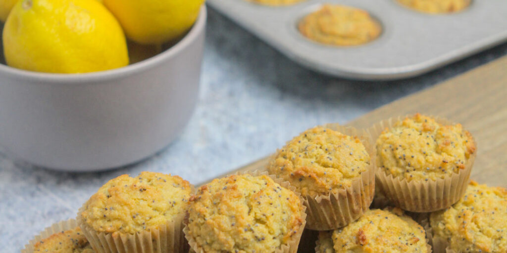 Low Carb Lemon Poppy Muffins