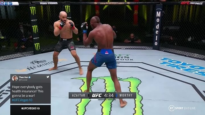 Khama Worthy vs Ottman Azaitar (UFC FIGHT NIGHT 177)
