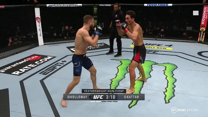 Max Holloway vs Calvin Kattar (UFC on ABC 1)