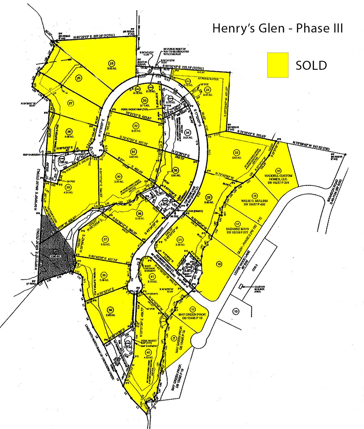 Henry's Glen Revised Recorded Phase 3 plat sold