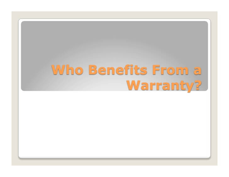 Who Benefits from a Warranty?