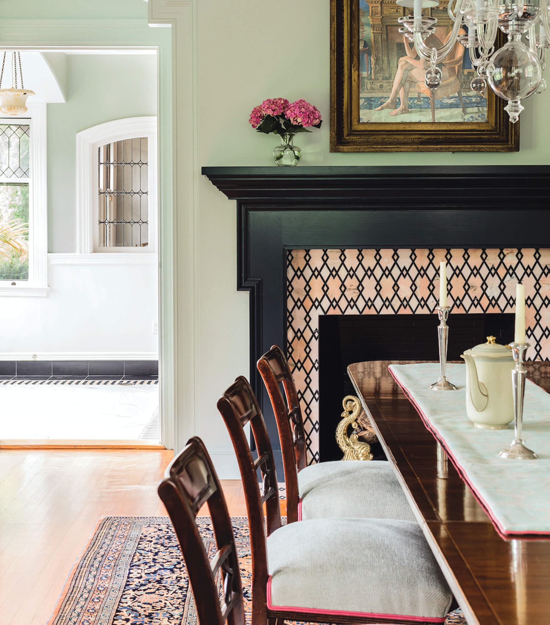 Walls have been beautifully restored in this home that was suffering from paint defects