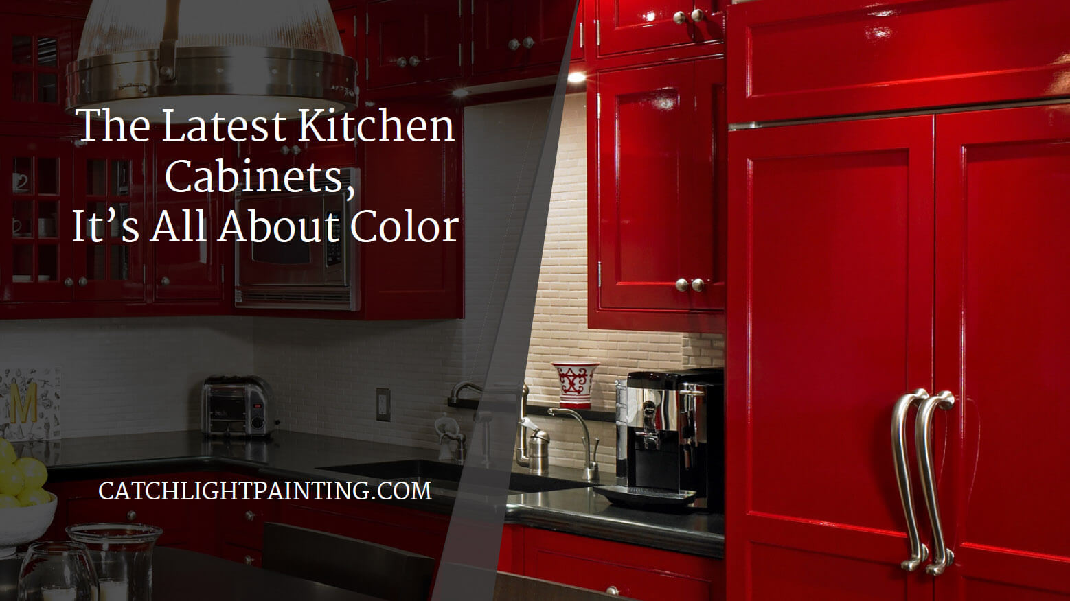 The Latest in Kitchen Cabinets, It's All About Color