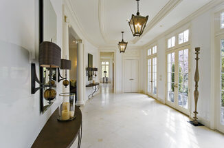 sunny interior luxury marble home