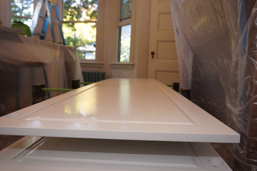 White painted cabinet doors for a historic house restoration