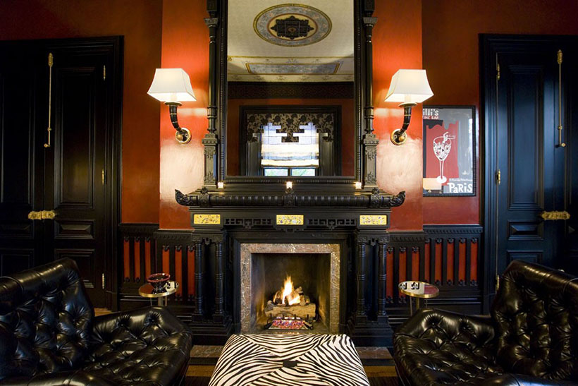 fire place in boston's back bay