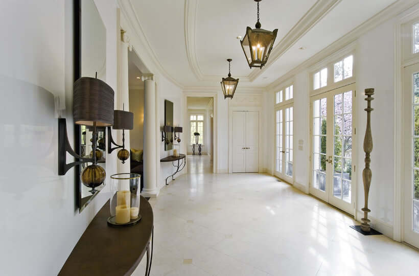 White interior walls inside of a residential home.
