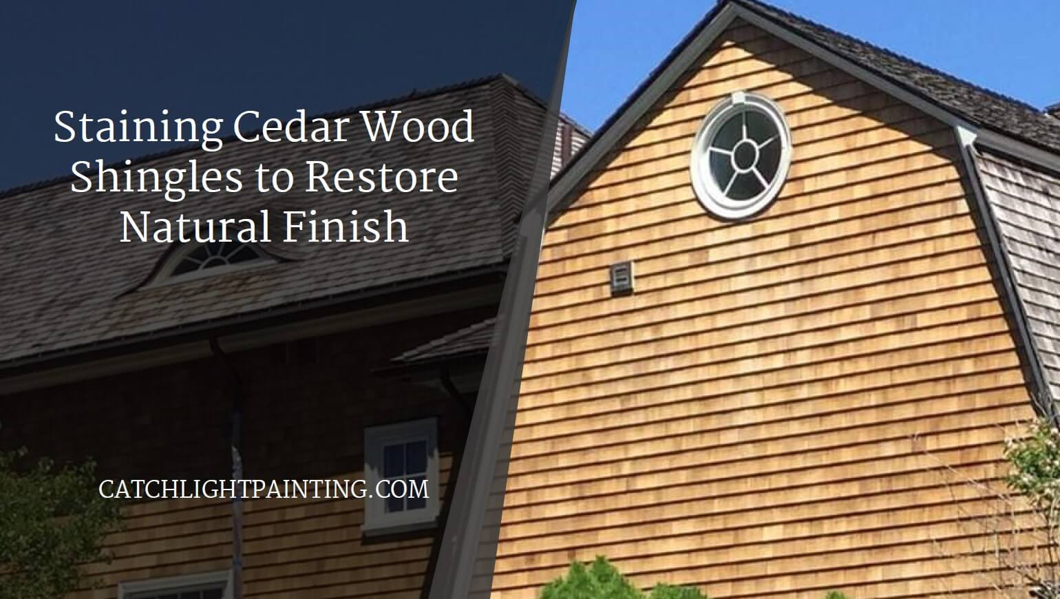 Cedar wood shingles characterize this waterfront home in Gloucester, MA.
