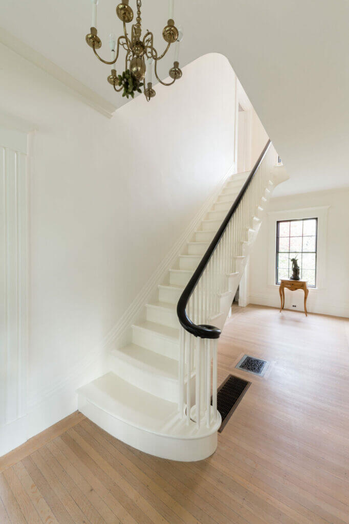 A lovely white-painted staircase