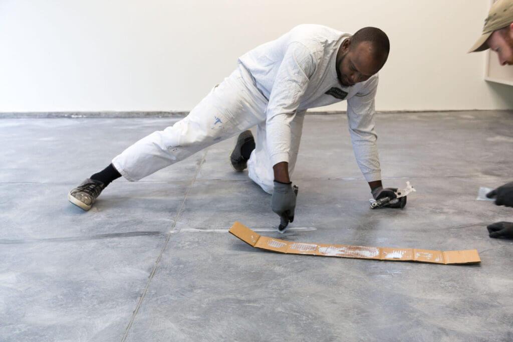 prepping garage floor