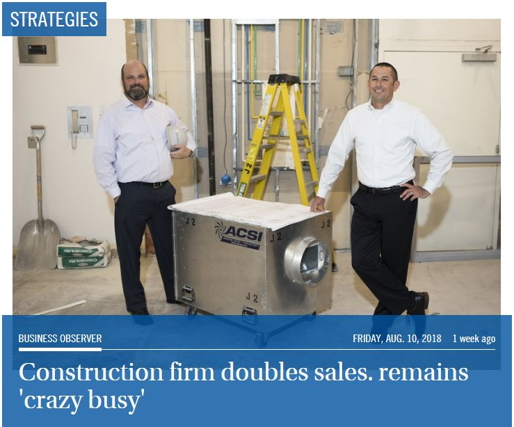 Construction Firm Doubles Sales. Remains Crazy Busy.