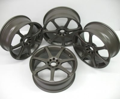 Sandblasted and powder coated wheels