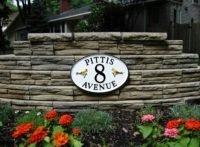 cast metal garden sign