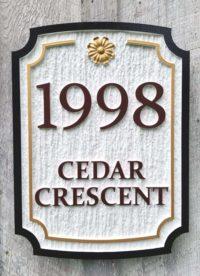 dimensional wood grain sign