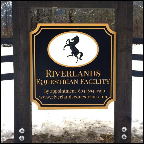 CNC Equestrian Dimensional Sign