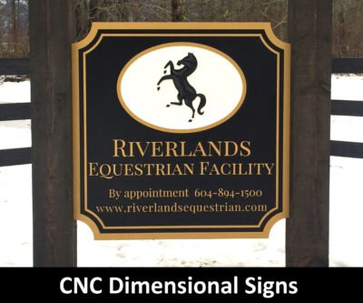 CNC Dimensional Signs