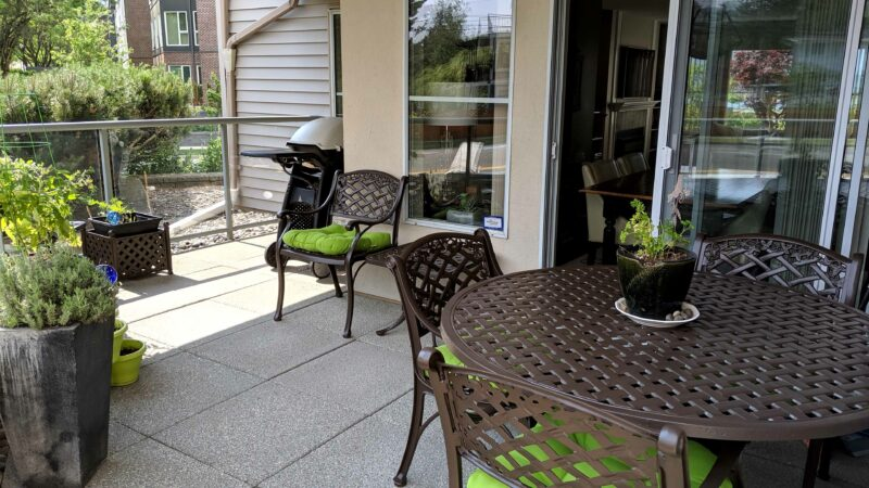 Powder coated patio set
