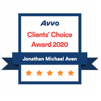 Avvo Clients Choice 2020, Jonathan M Aven, Chicago Real Estate Attorney