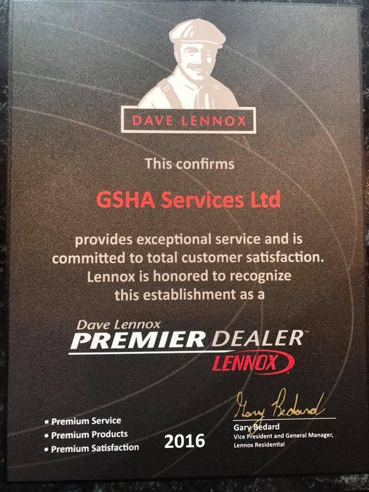 GSHA Services, LTD - Lennox Premier Dealer in Chicago, Illinois