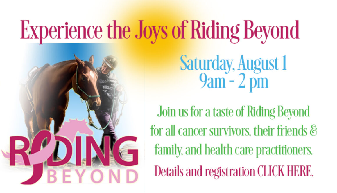 May's Taste of Riding Beyond