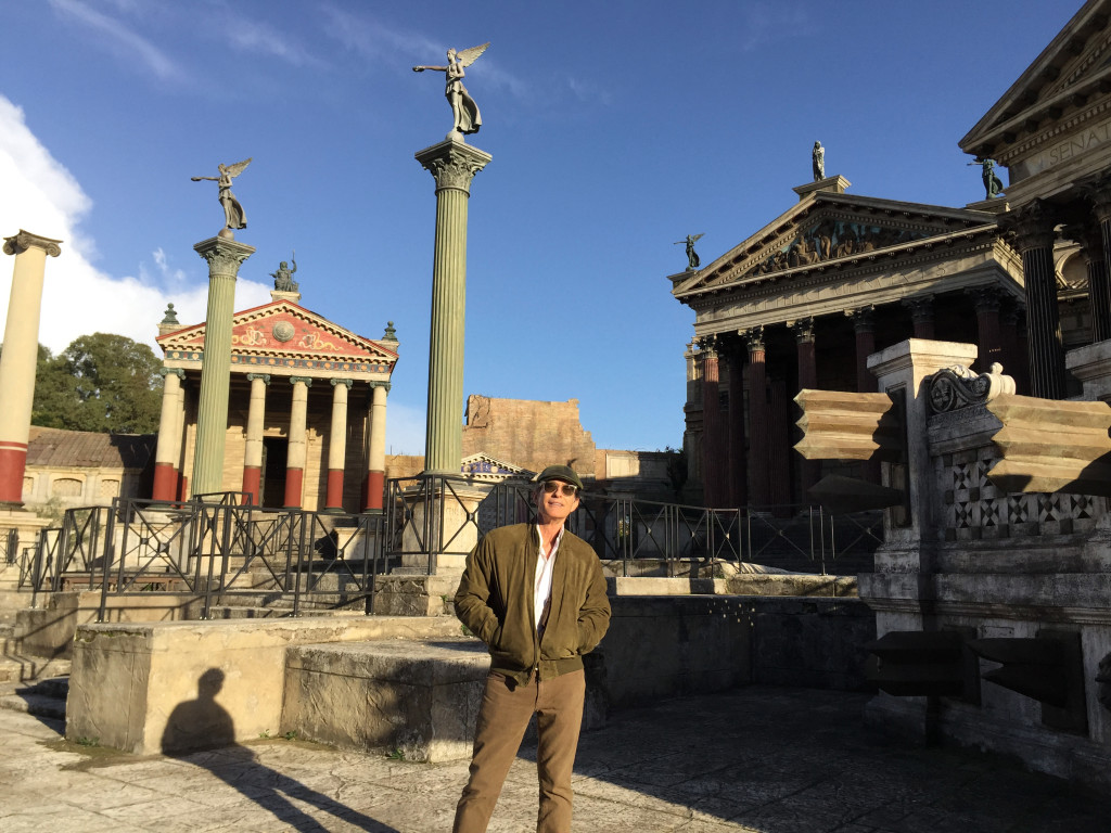 David Twohy on the Cinecitta backlot, Rome