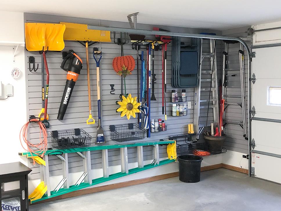 Garage Storage Slatwall in West Fargo, ND Garage Organization