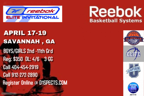 REEBOK Elite Invitational Tournament – SCHEDULE NOW POSTED!!!!