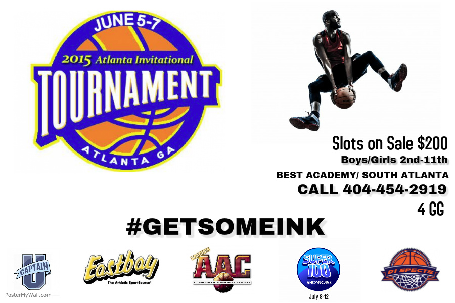 ATLANTA INVITATIONAL TOURNAMENT – JUNE 5-7… SCHEDULE NOW POSTED