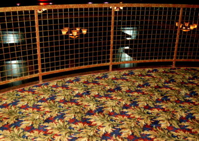 Pearl Ballroom carpeted balcony