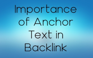 Anchor text in Backlink
