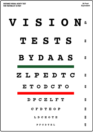 Eye Exam / Vision Test at ALEXANDER DAAS