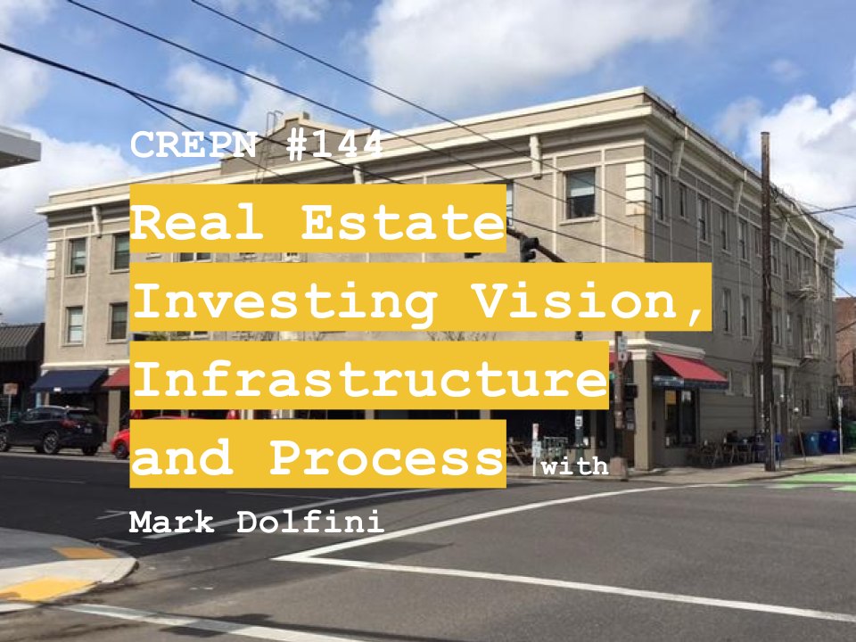 CREPN #144 - Real Estate Investing Vision, Infrastructure and Process with Mark Dolfini