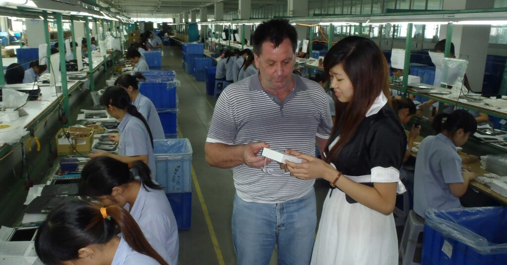 Graham inspecting a video door phone