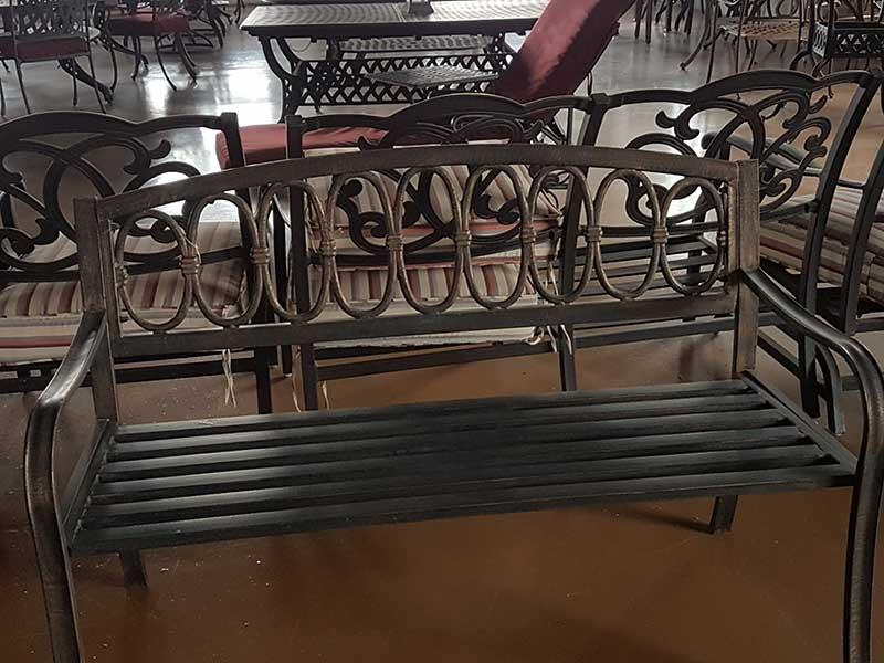 Interesting garden bench back