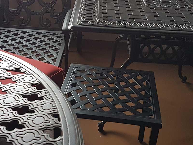 Square aluminium coffee table