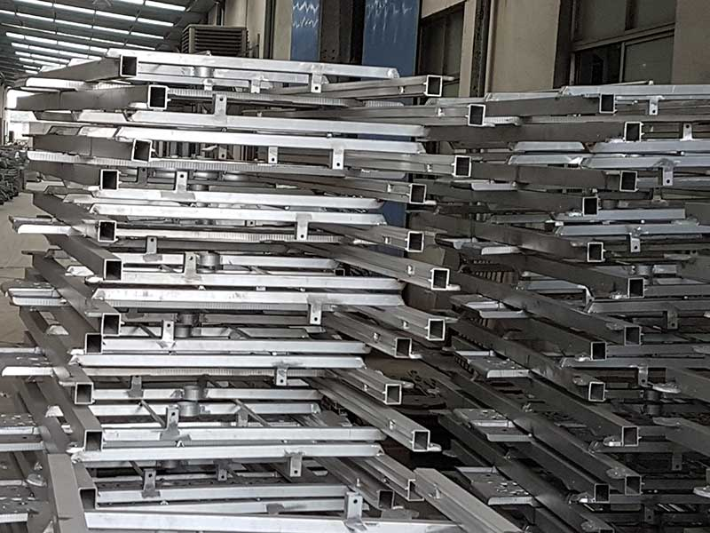 Stack of frames ready for assembly