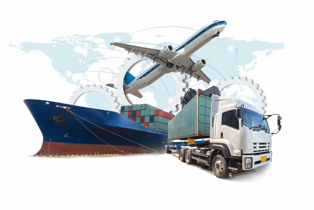 Air sea and land freight options