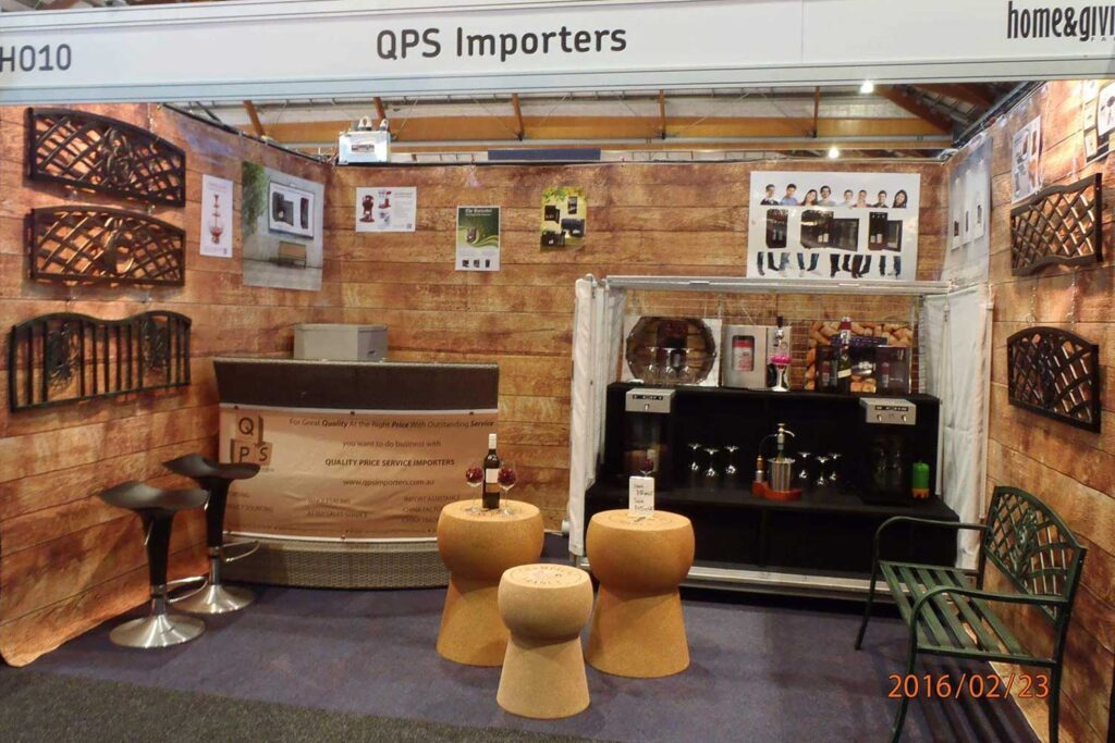 Products on display at the QPS Importers stand