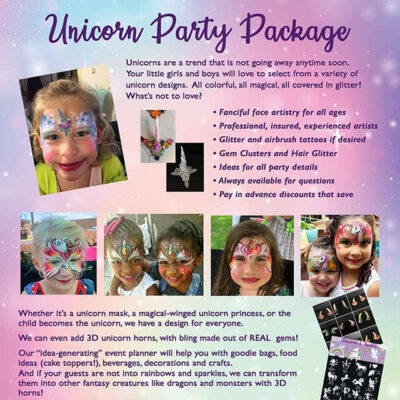 Unicorn Party Flyer